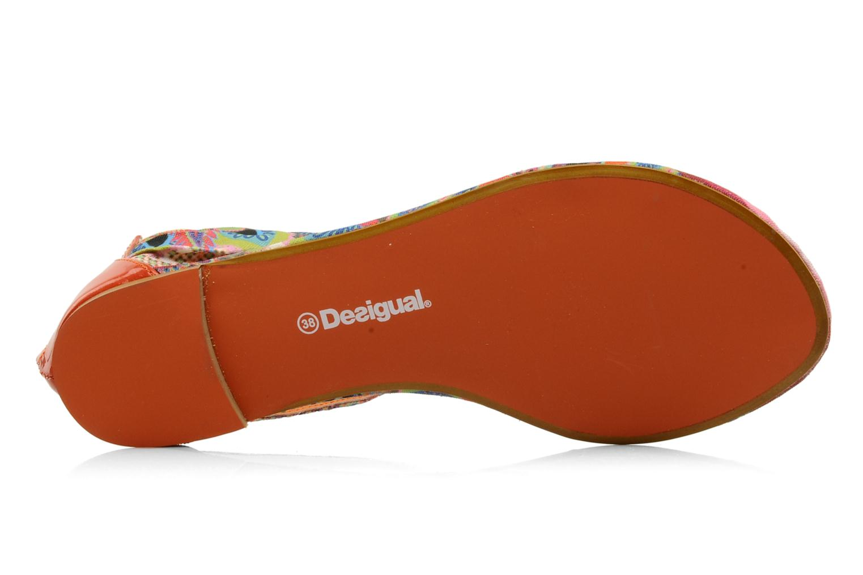 Sandales et nu-pieds Desigual Aolani Orange vue haut
