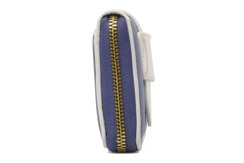 Petite Maroquinerie Tila March Zelig Canvas Long Wallet Bleu vue droite