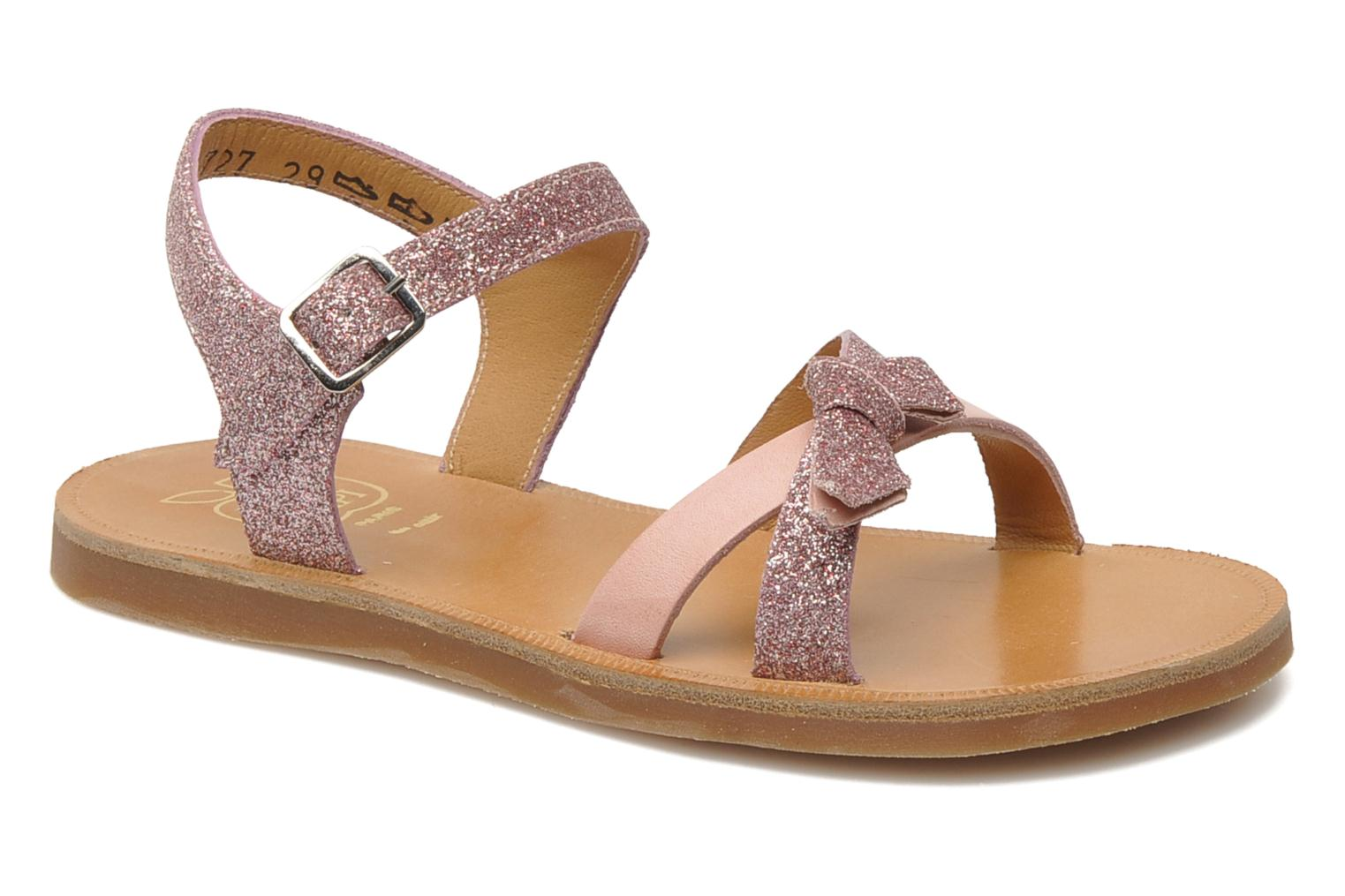 Sandals Pom d Api PLAGETTE KNOT Pink detailed view/ Pair view