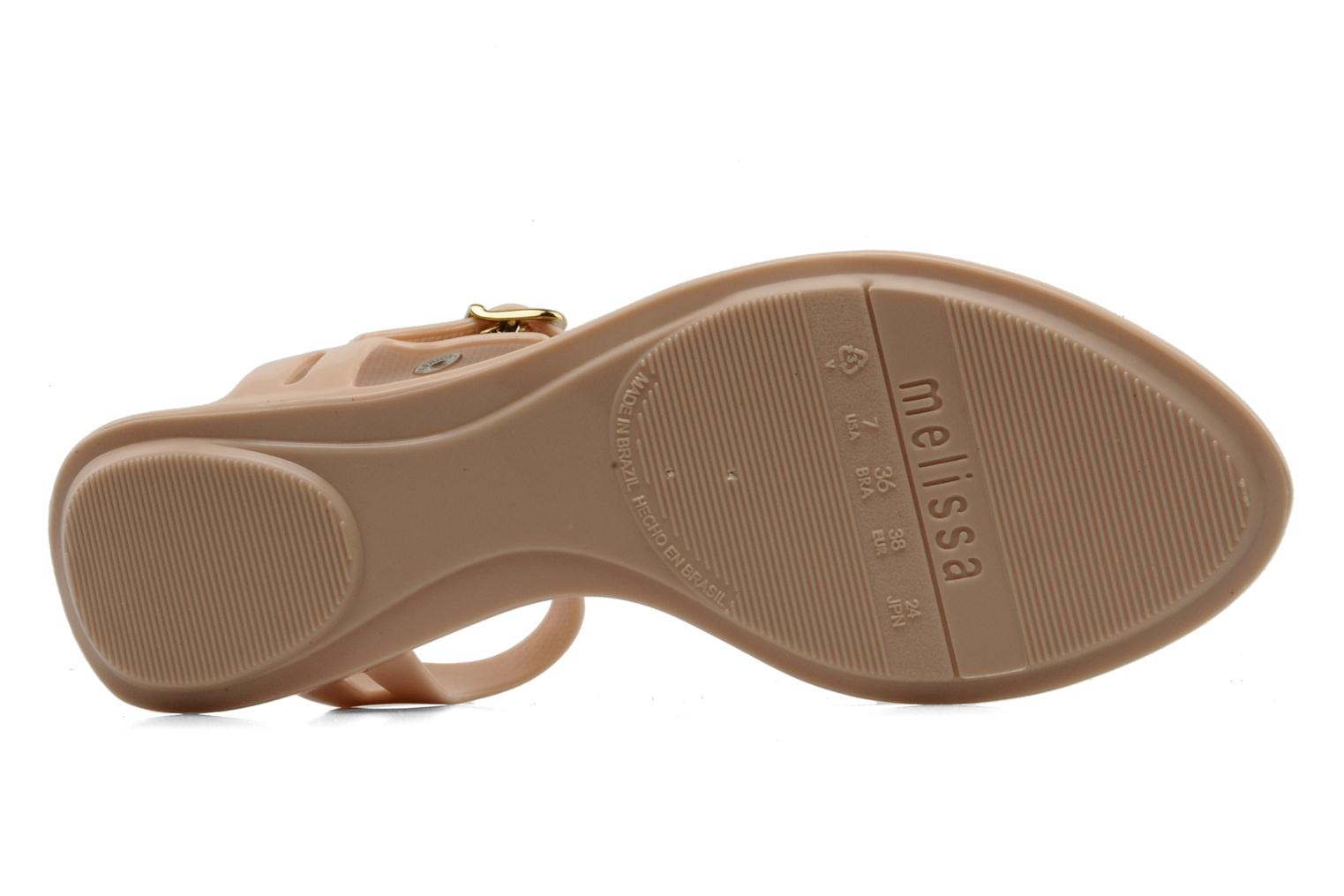 Sandals Melissa Melissa Lua III Sp Ad Beige view from above