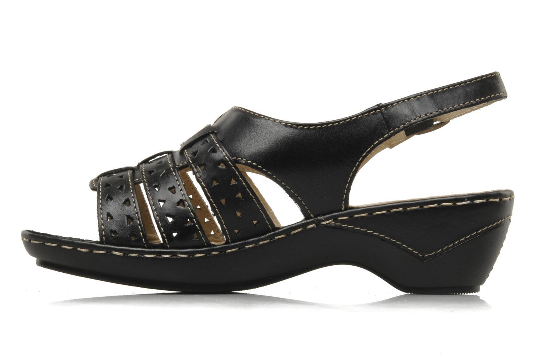 Sandals Caprice Vegati Black front view