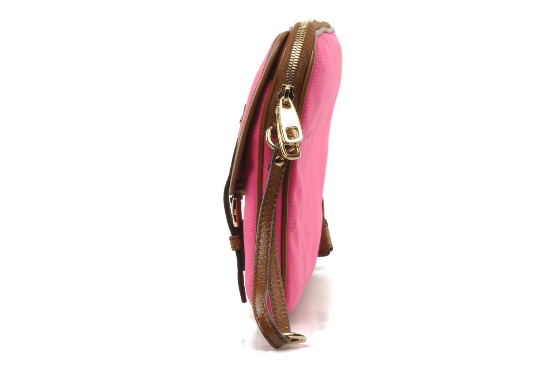 Sacs pochettes D&G ALYSSON CANVAS Rose vue portées chaussures