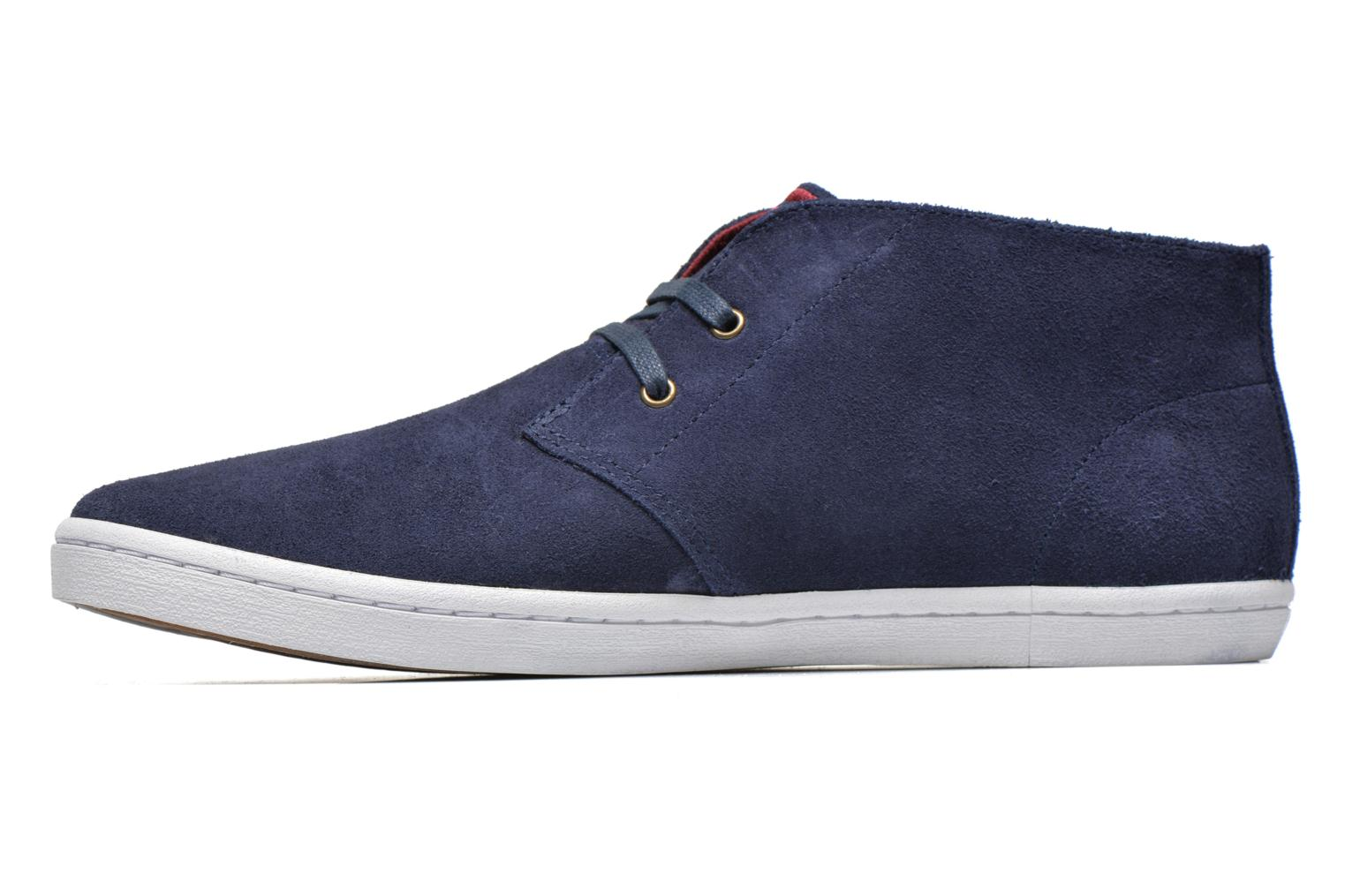 Sneakers Fred Perry Byron Mid Suede Blauw voorkant