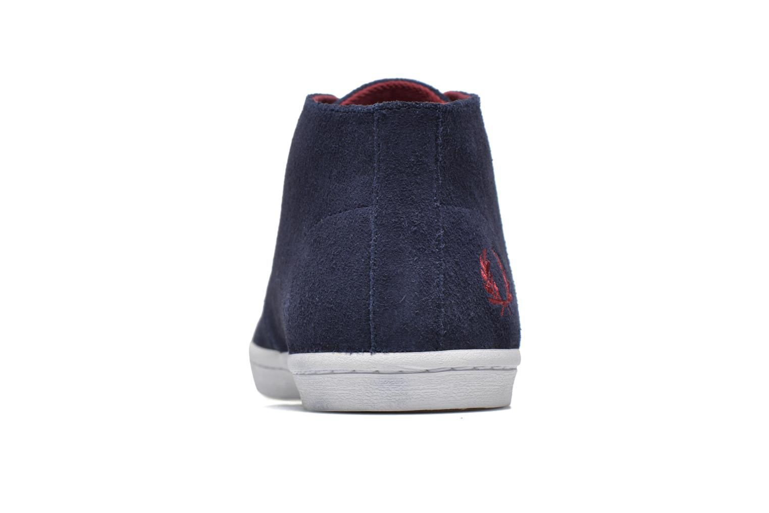 Baskets Fred Perry Byron Mid Suede Bleu vue droite