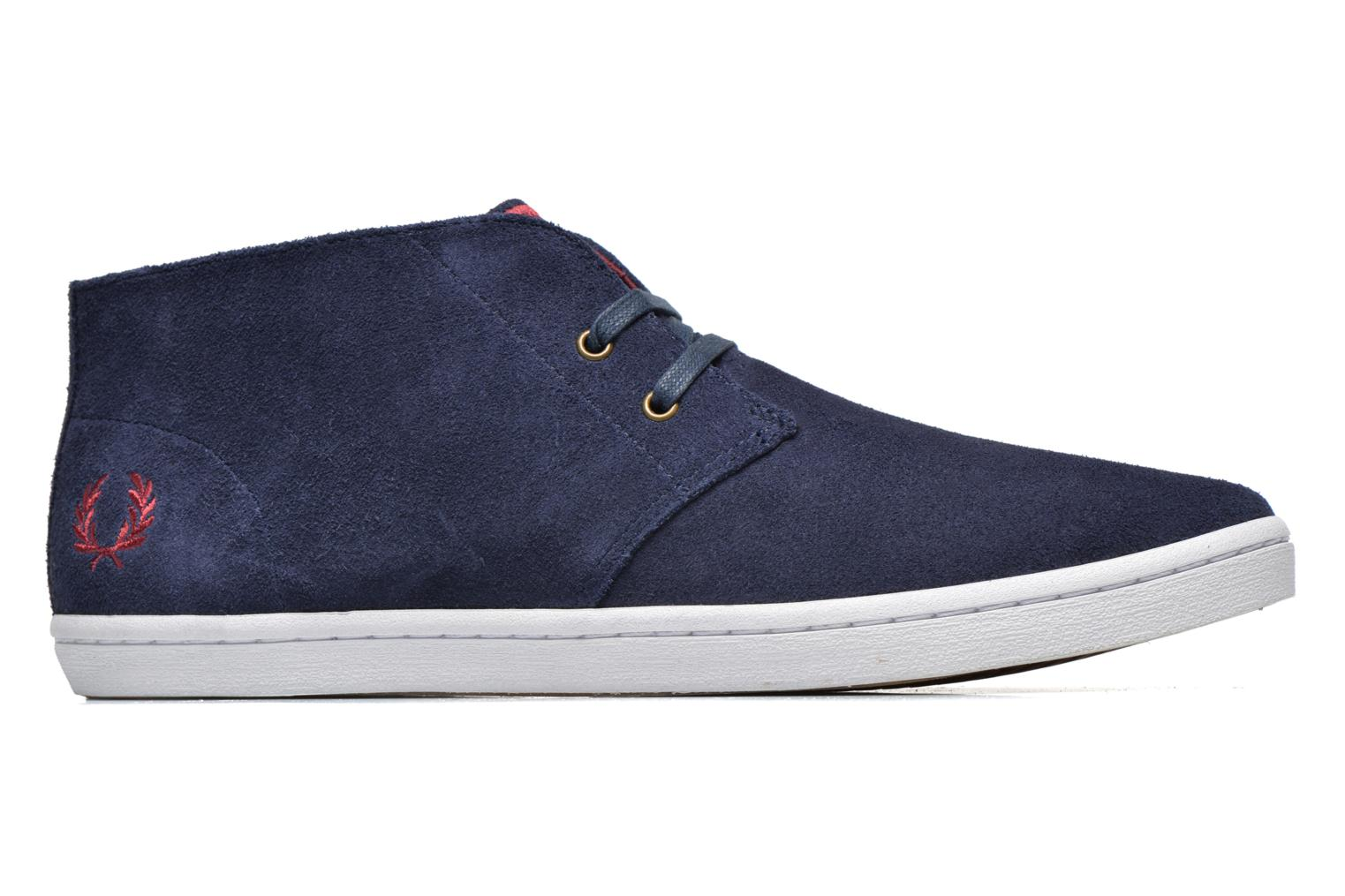 Sneakers Fred Perry Byron Mid Suede Blauw achterkant