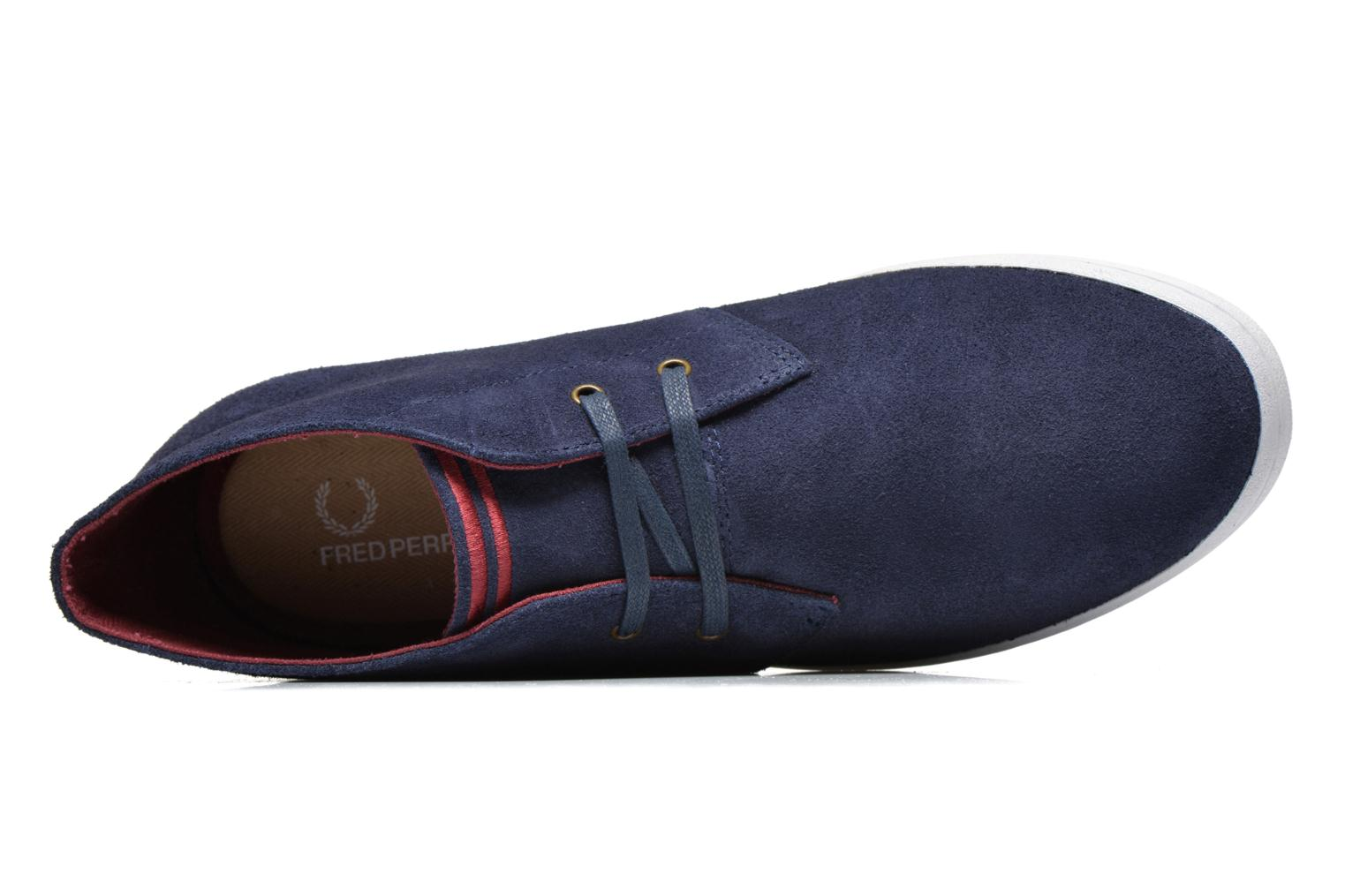 Baskets Fred Perry Byron Mid Suede Bleu vue gauche