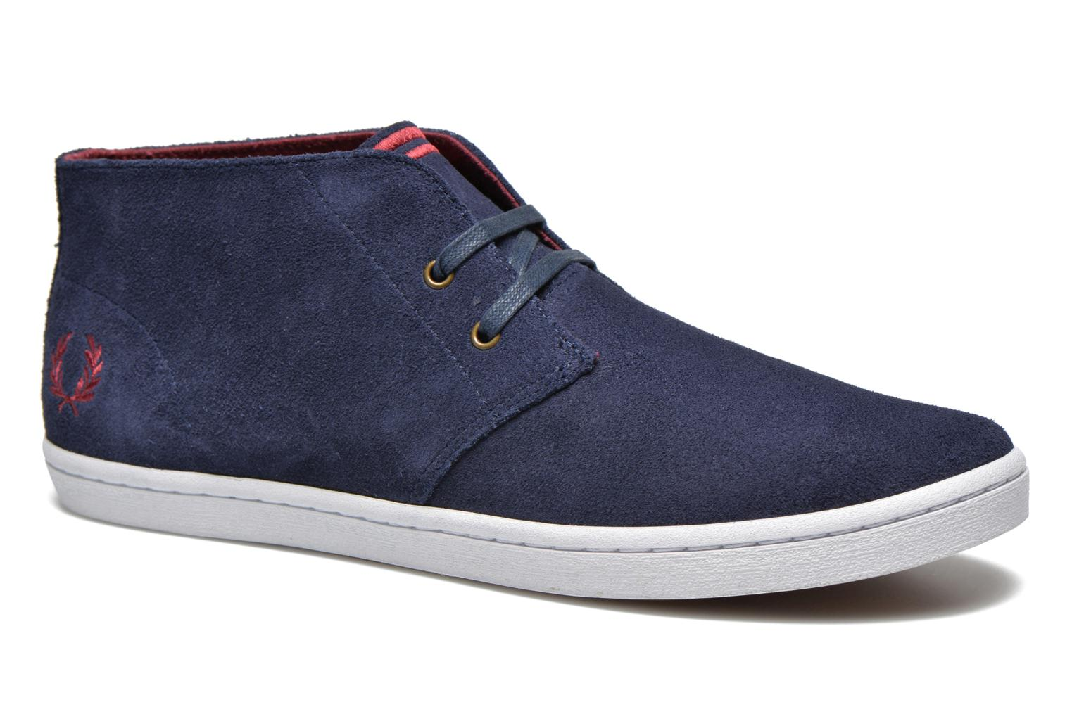 Sneakers Fred Perry Byron Mid Suede Blauw detail