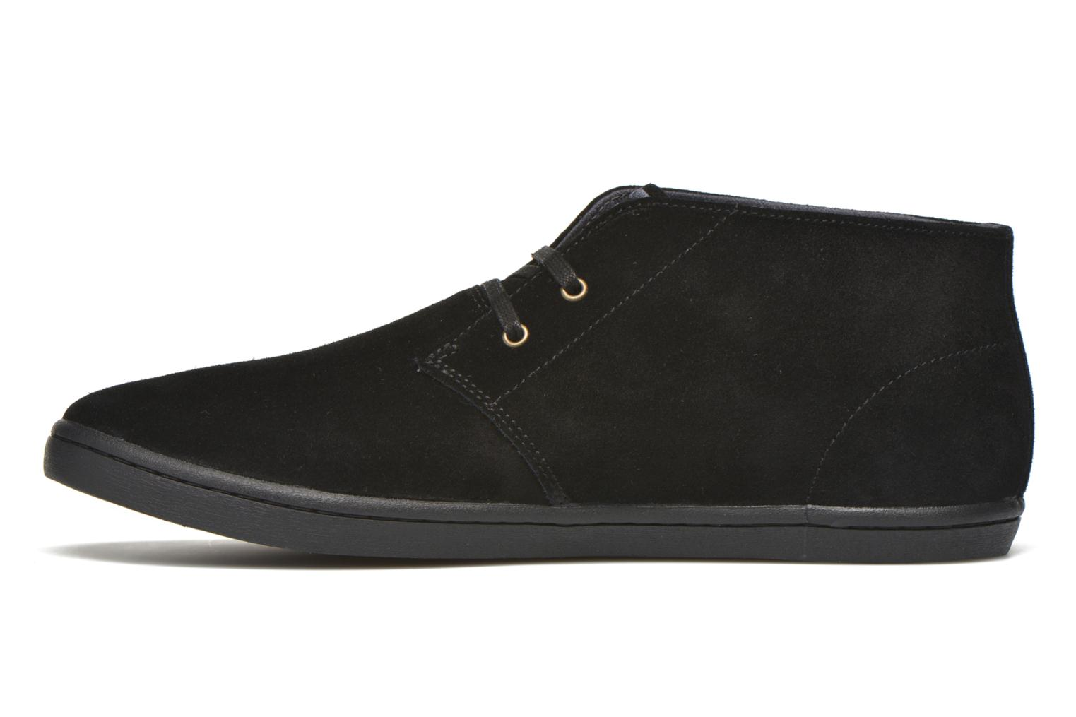 Baskets Fred Perry Byron Mid Suede Noir vue face