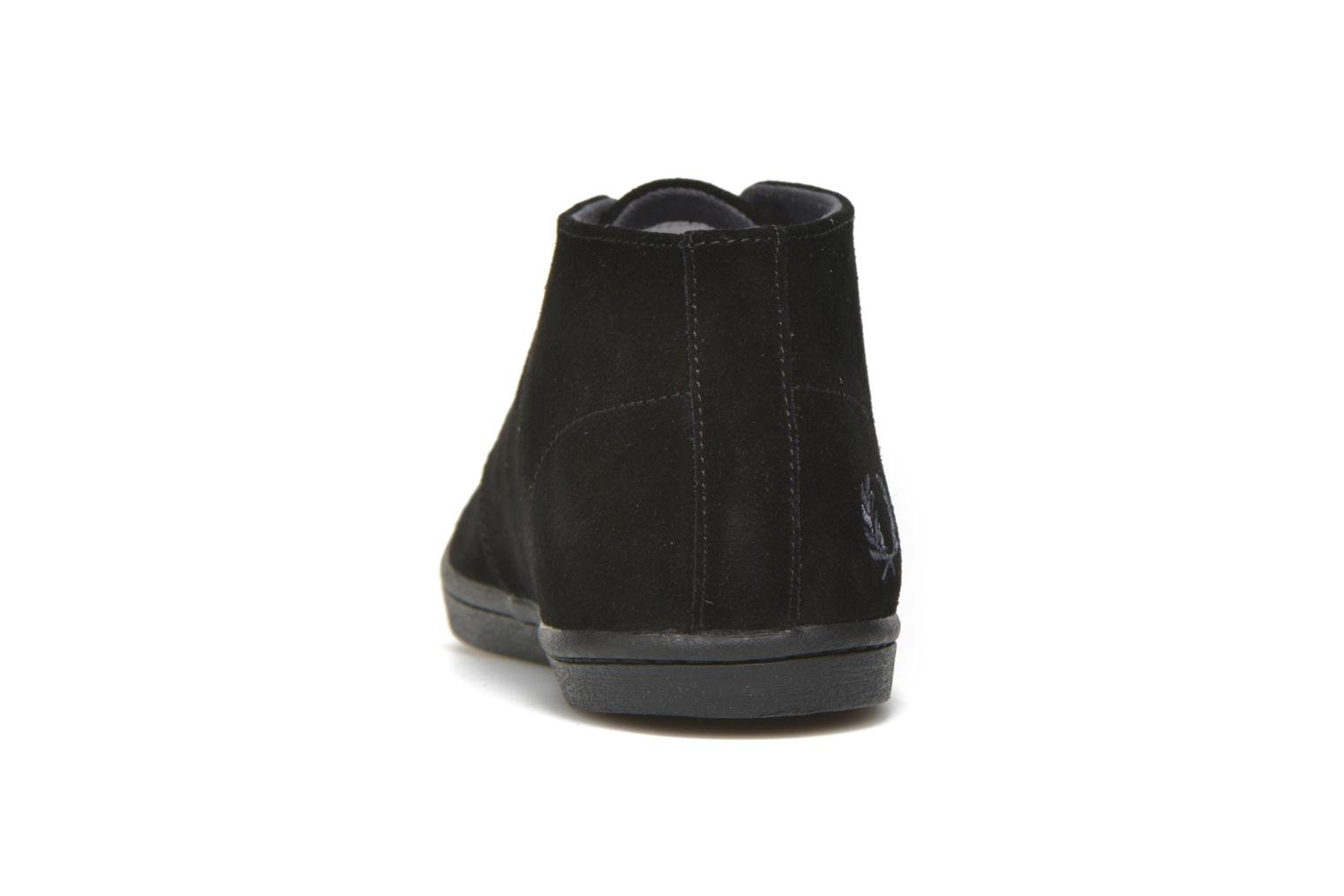 Baskets Fred Perry Byron Mid Suede Noir vue droite