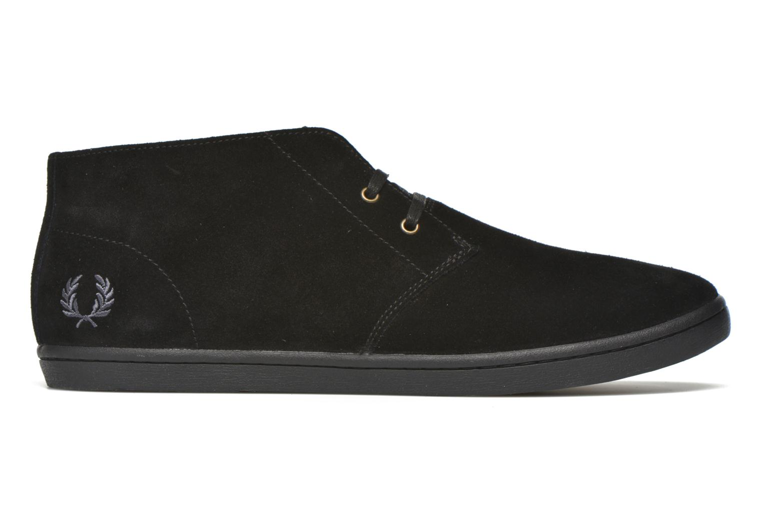 Sneakers Fred Perry Byron Mid Suede Zwart achterkant