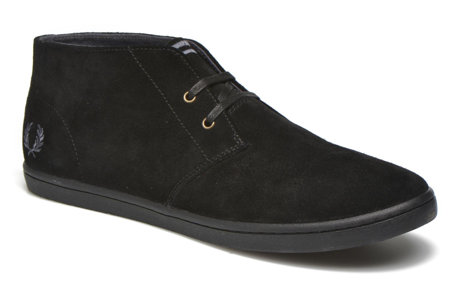 Sneaker Fred Perry Byron Mid Suede schwarz detaillierte ansicht/modell