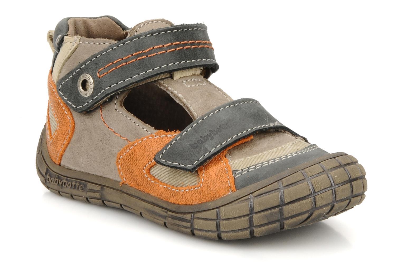 Chaussures à scratch Babybotte Stanislas Marron vue détail/paire