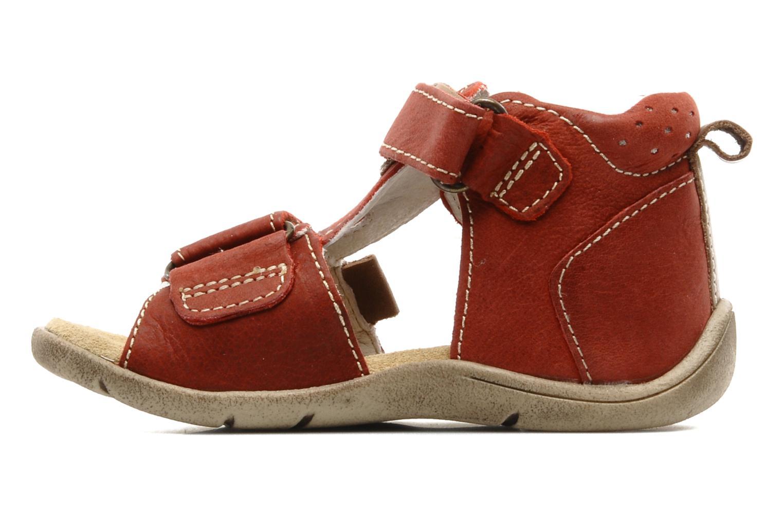 Sandalen Babybotte Tedi rot ansicht von vorne