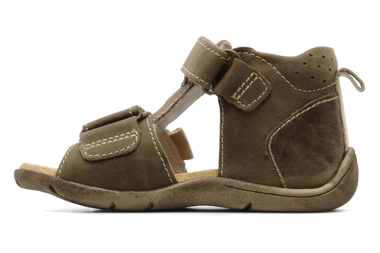 Sandales et nu-pieds Babybotte Tedi Marron vue face