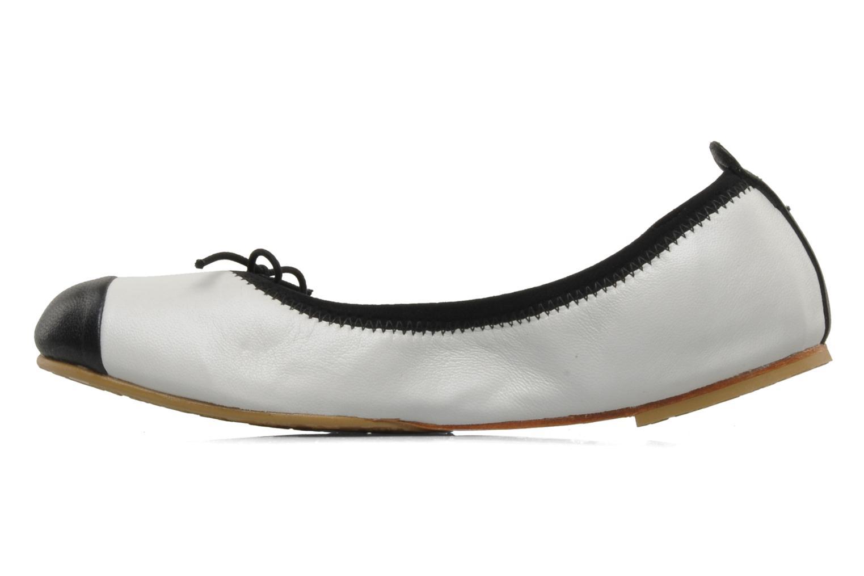 Ballerinaer Bloch Girls Classic Hvid se forfra
