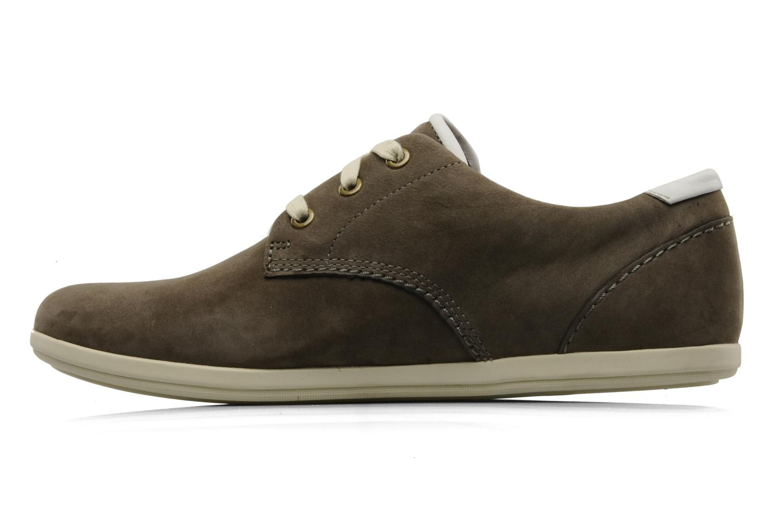 Lace-up shoes Clarks Mask Flow Grey front view