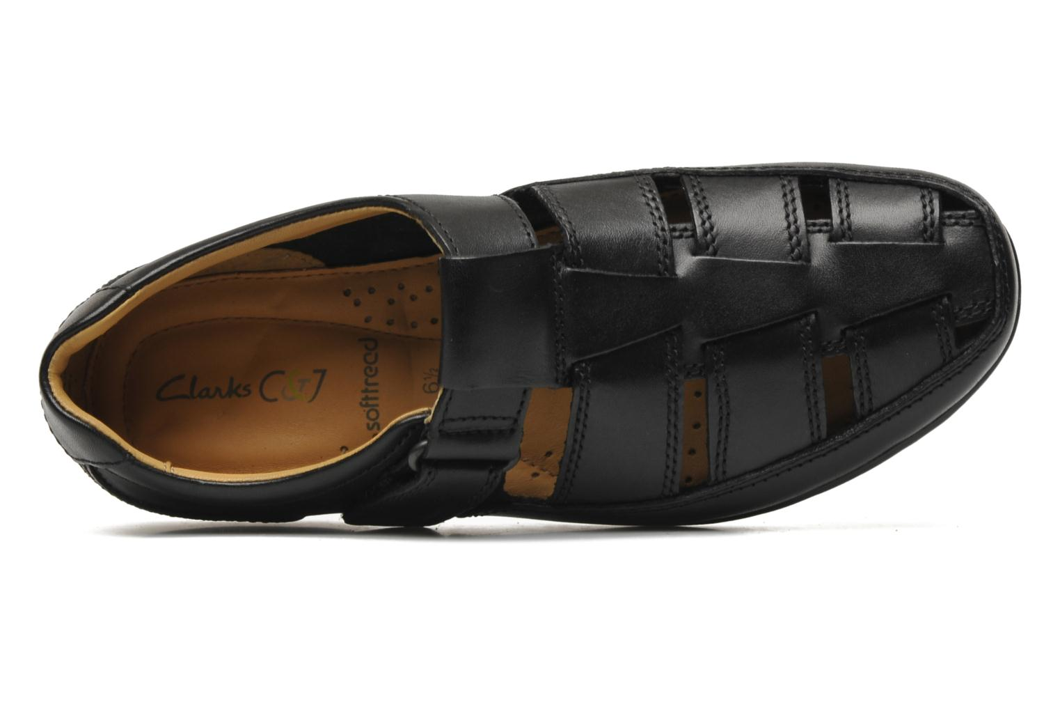 Sandalen Clarks Recline Open Zwart links