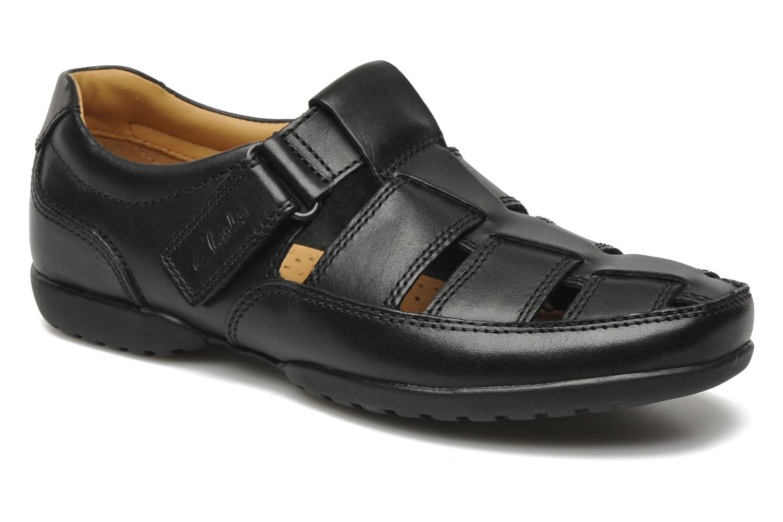 Recline Open Black leather