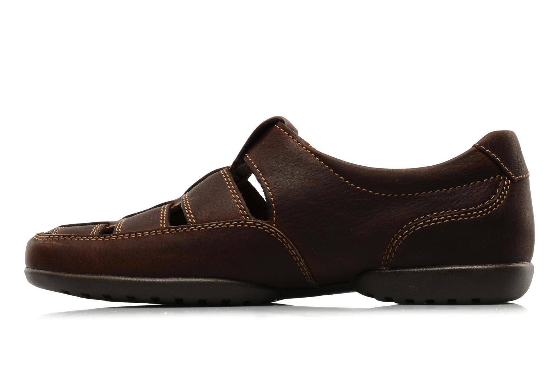 Sandales et nu-pieds Clarks Recline Open Marron vue face