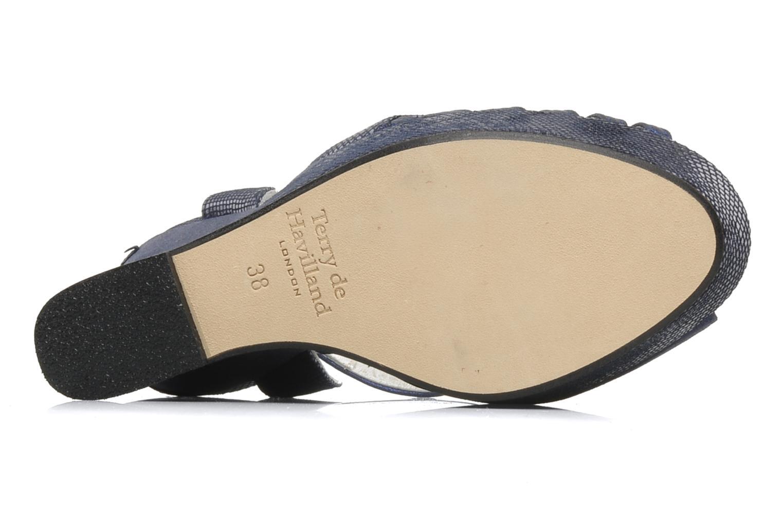Sandales et nu-pieds Terry de Havilland Margaux Bleu vue haut