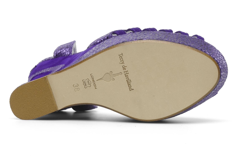 Sandalias Terry de Havilland Margaux Violeta      vista de arriba