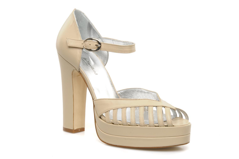 Høje hæle Terry de Havilland Charlie Beige detaljeret billede af skoene