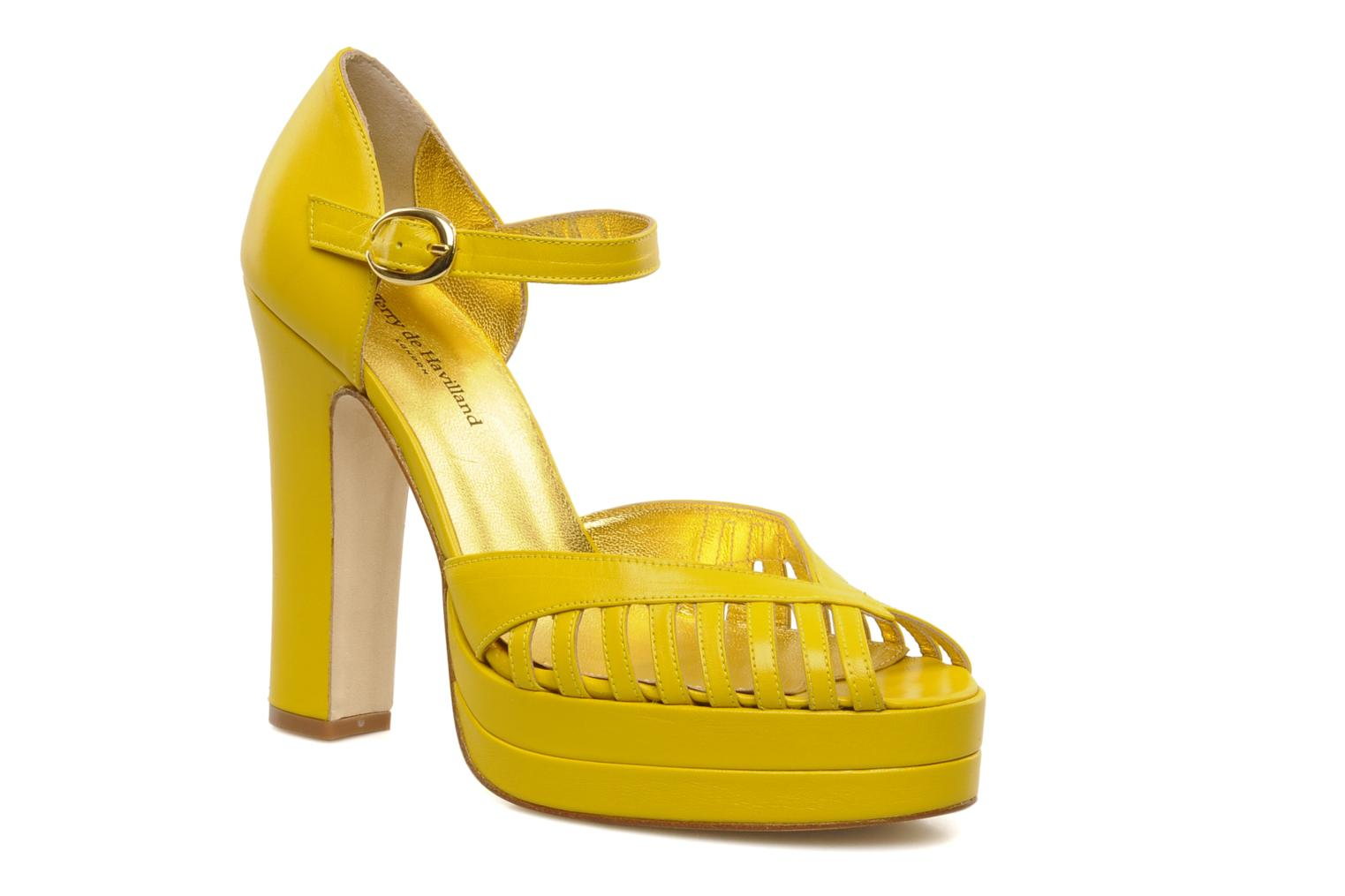 Charlie Silky Yellow Leather