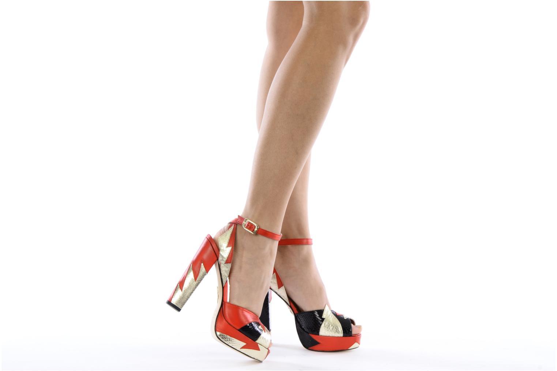 Sandales et nu-pieds Terry de Havilland Zia Multicolore vue bas / vue portée sac