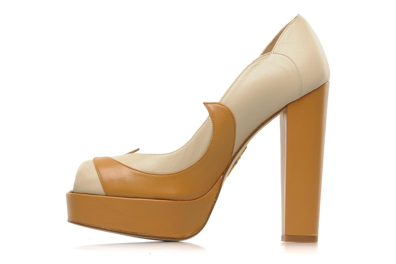 Zapatos de tacón Terry de Havilland Carina Beige vista de frente
