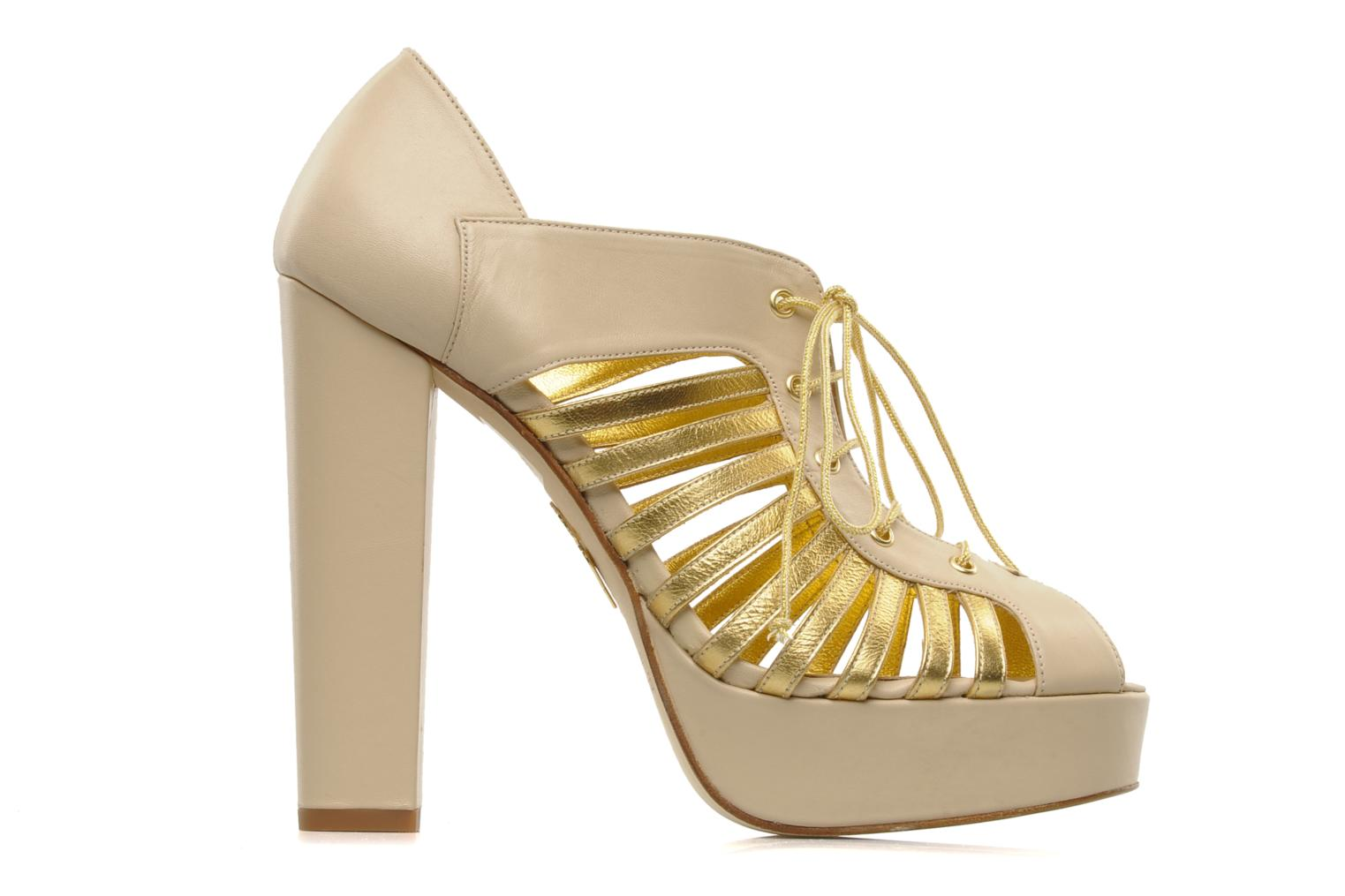 Jessie Alba Gold leather
