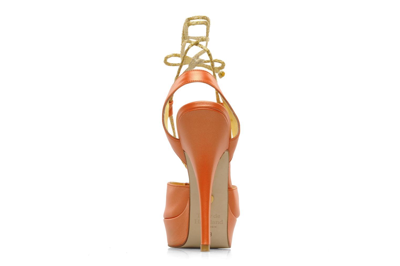 Sandales et nu-pieds Terry de Havilland Lisette Orange vue droite