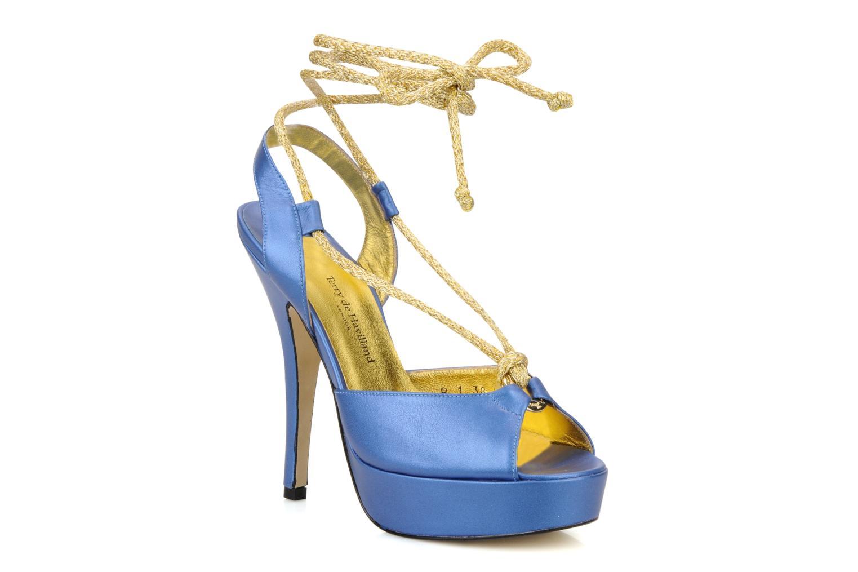 Sandals Terry de Havilland Lisette Blue detailed view/ Pair view
