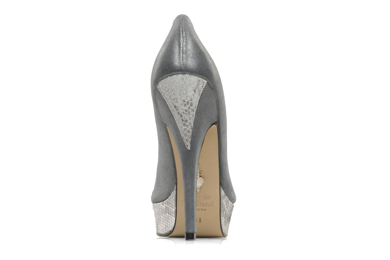 High heels Terry de Havilland AMBER PYTHON Silver view from the right