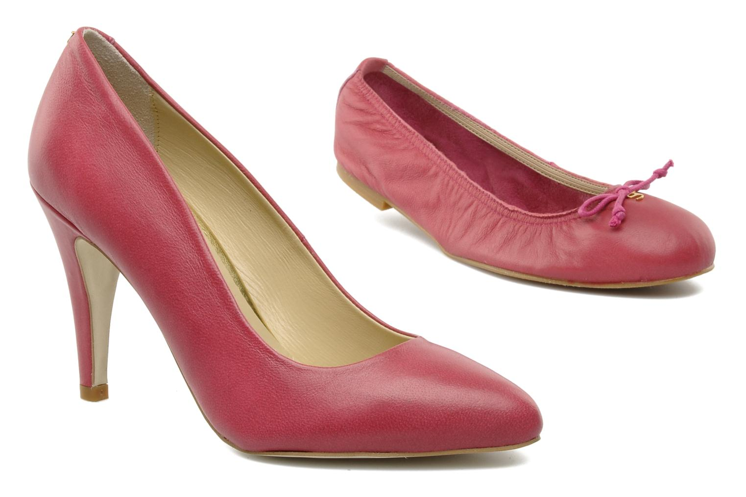 Pump Low Heel Fuchsia Leather