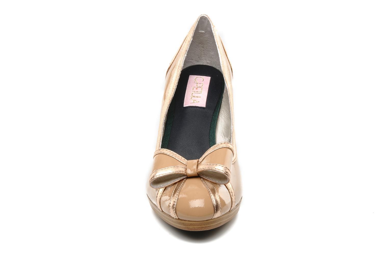 Escarpins C.Petula Berlyne Beige vue portées chaussures