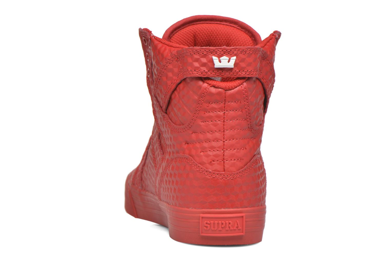 Baskets Supra Skytop Rouge vue droite