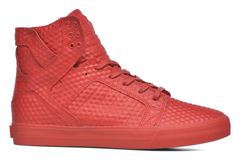 Baskets Supra Skytop Rouge vue derrière