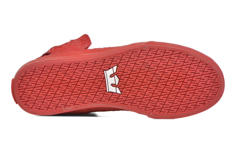 Sneaker Supra Skytop rot ansicht von oben