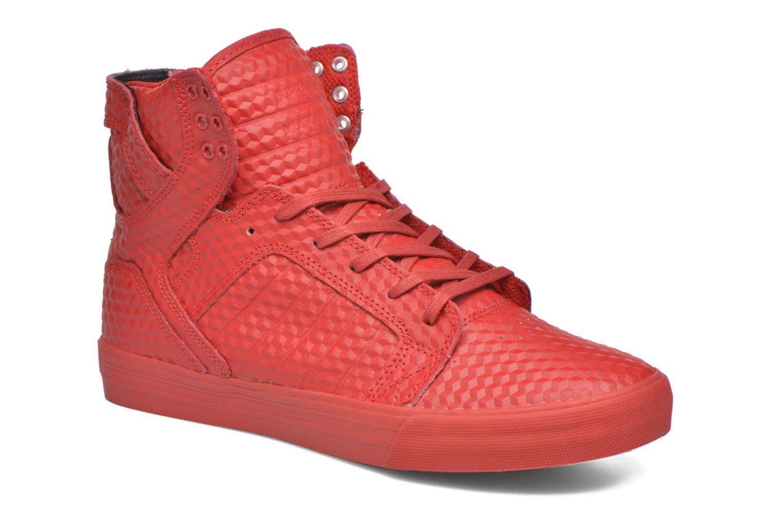 Baskets Supra Skytop Rouge vue détail/paire