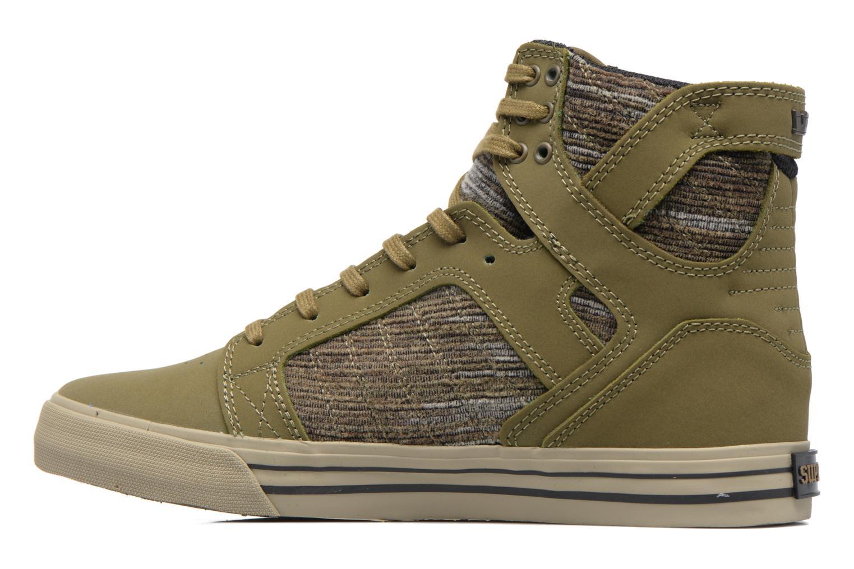 Sneaker Supra Skytop grün ansicht von vorne