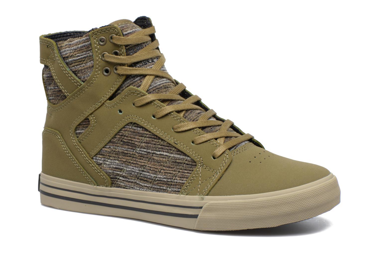 Sneakers Supra Skytop Grön detaljerad bild på paret