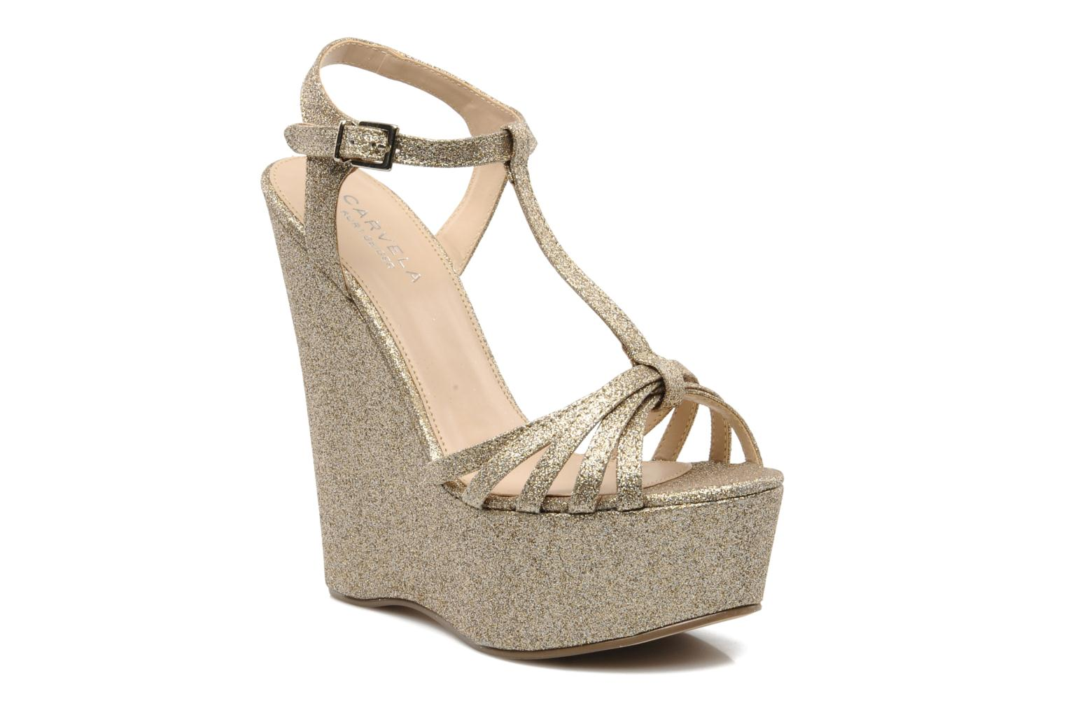 Sandals Carvela GLOWORM Beige detailed view/ Pair view