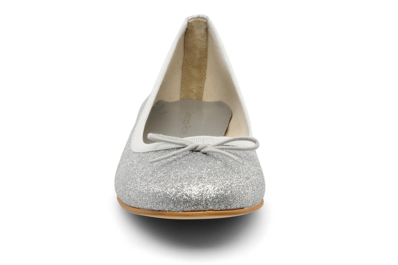 Ballerines Georgia Rose Garbo Argent vue portées chaussures