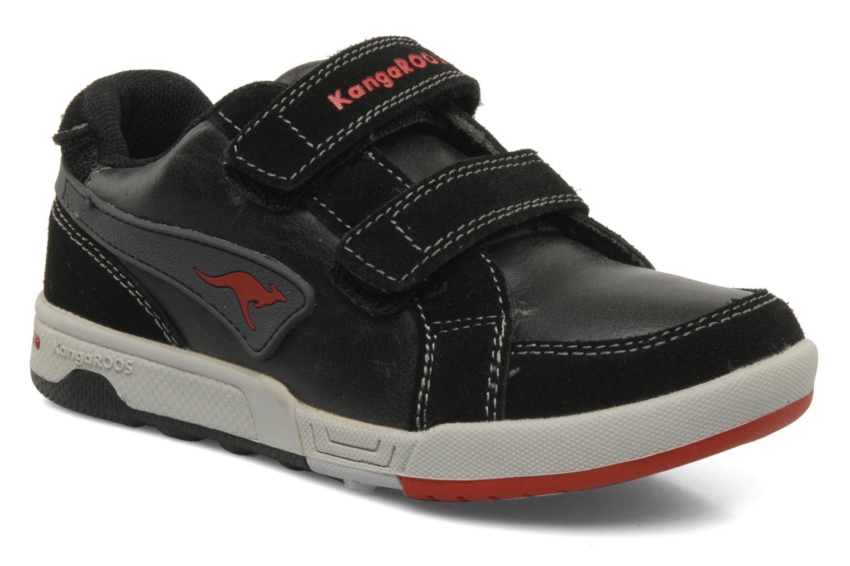 Sneakers Kangaroos Elden Zwart detail
