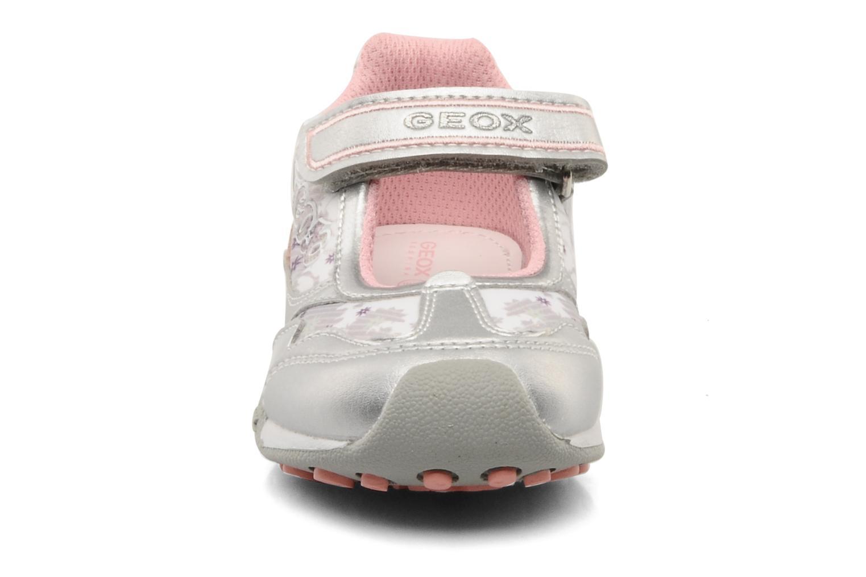 Baskets Geox B N.jocker H Argent vue portées chaussures