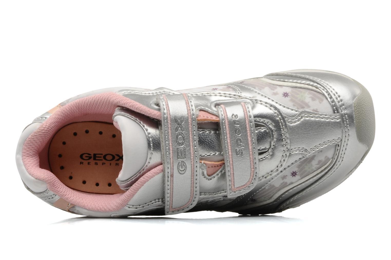 Sneakers Geox J N.jocker G.G Argento immagine sinistra