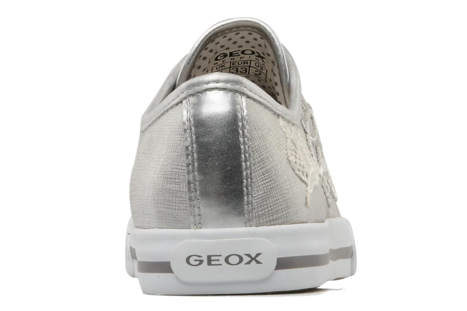 Trainers Geox J ciak G.T Silver view from the right