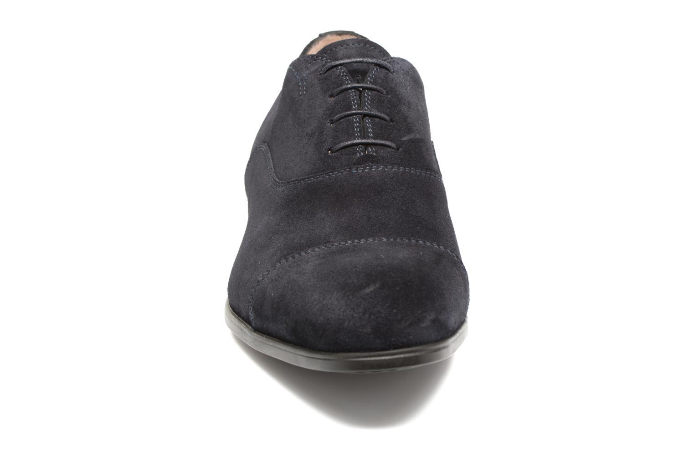 Lace-up shoes Santoni Simon 11011 Blue model view