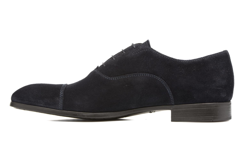 Lace-up shoes Santoni Simon 11011 Blue front view