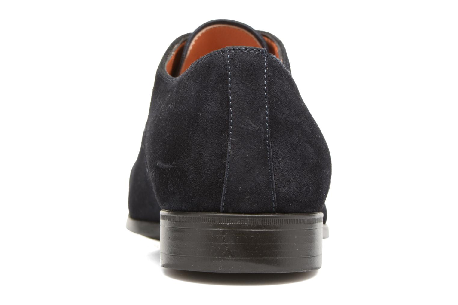 Lace-up shoes Santoni Simon 11011 Blue view from the right